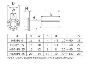 画像1: ヤマハ用ディスクローターボルトM8×25L