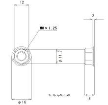 他の写真1: グリップロックナットM8(ピッチ1.25)